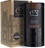 1657, Luxury Gourmet Hot Chocolate Gift Tin - 70% Cocoa, Dark Single Origin Valrhona Hot Chocolate Drink - 100% Vegan and Gluten-Free - Great in Recipes, Bake like a Michelin Chef at Home with a Natural, Pure Chocolate Drink, 170g Caddy
