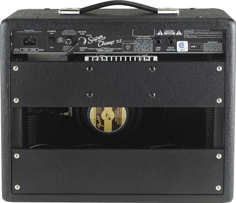 fender super champ x2 15 watt 1x10 inch guitar bo