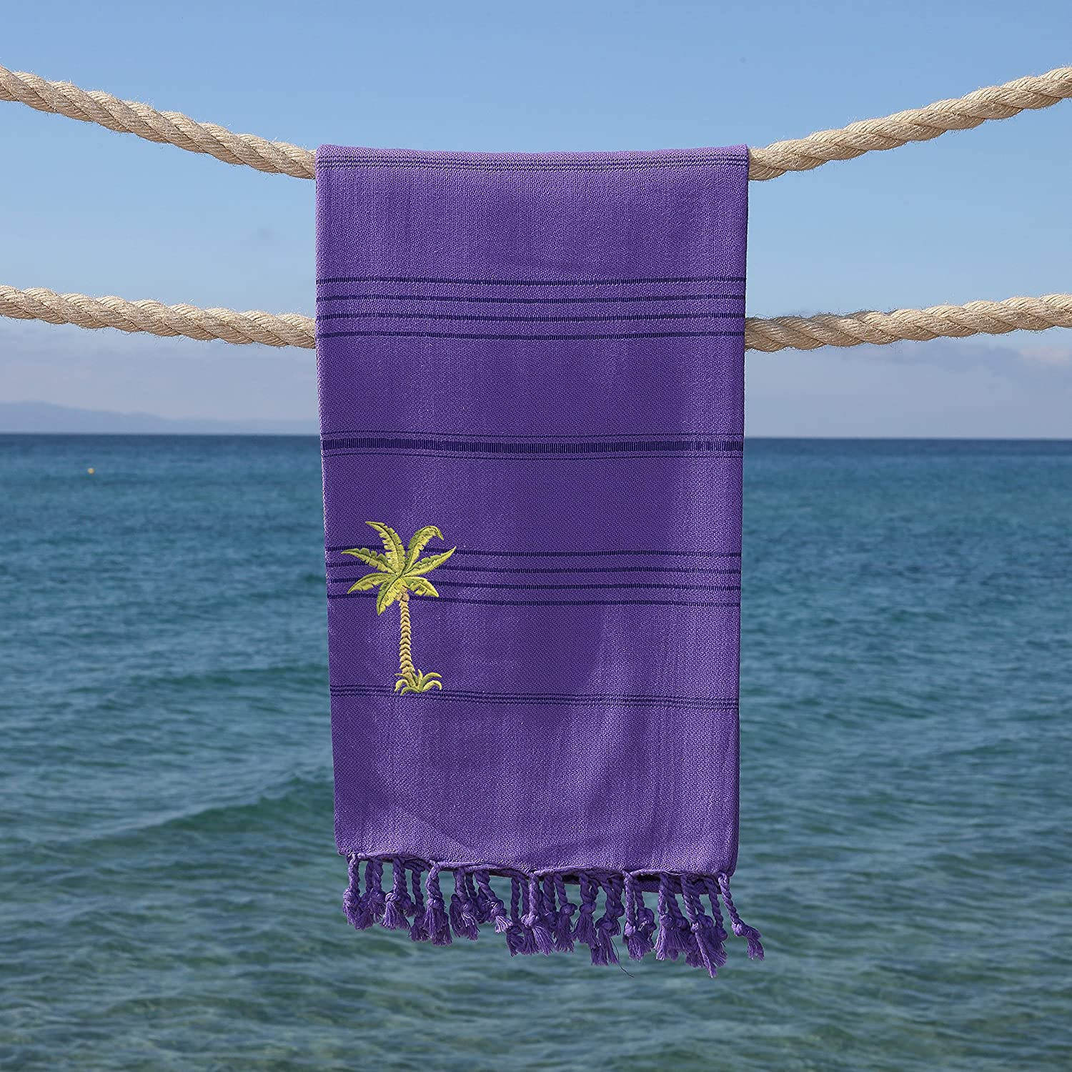 Linum Home Textiles Summer Fun Beach Towel Lilac