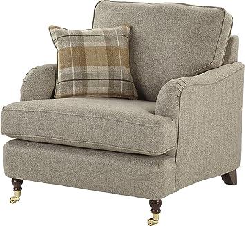 tesco carrington fabric arm chair natural amazon co uk kitchen