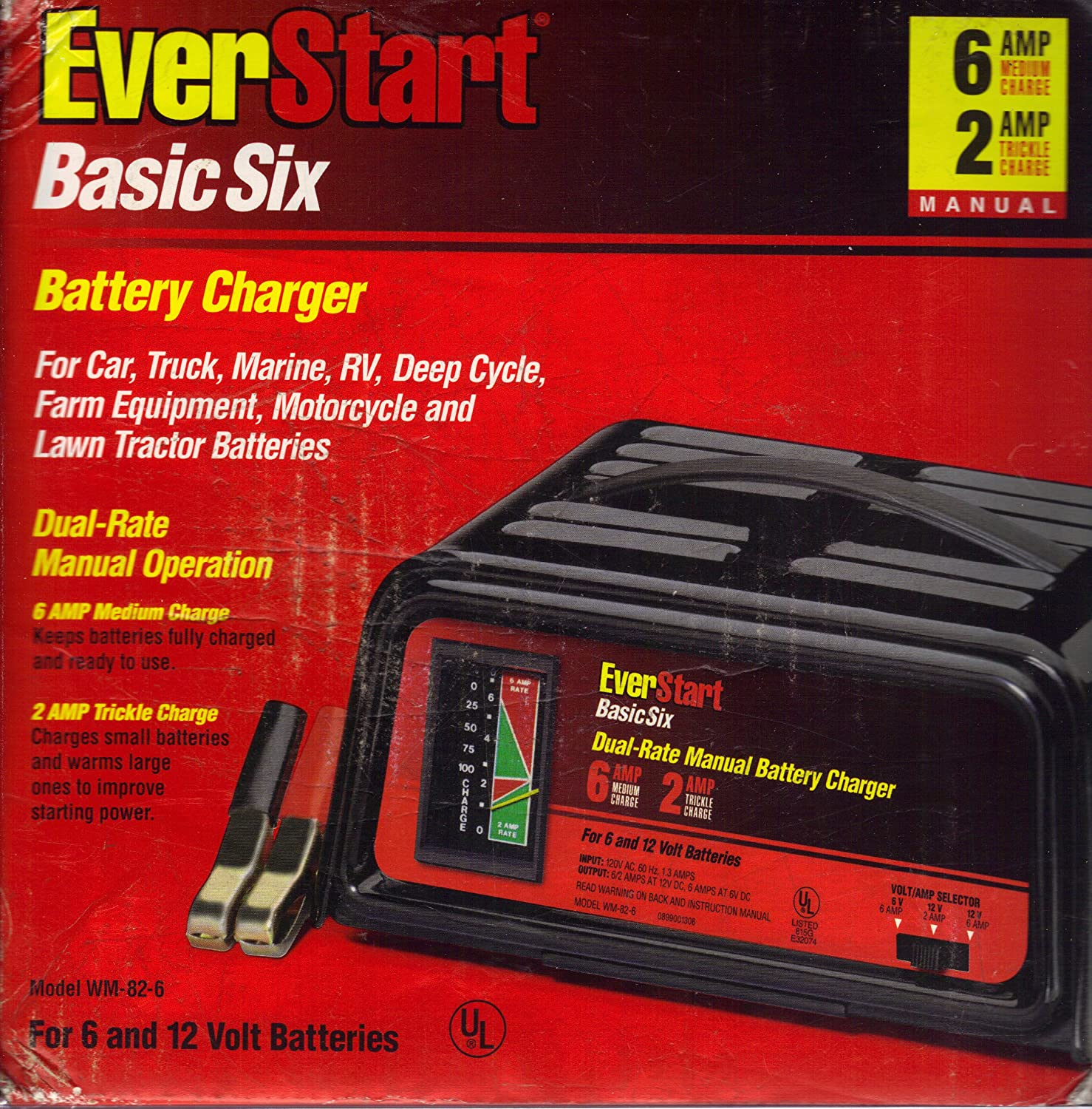 A1PRgKczoEL._SL1500_ amazon com everstart wm 82 6 basic six battery charger automotive everstart battery charger wiring diagram at reclaimingppi.co