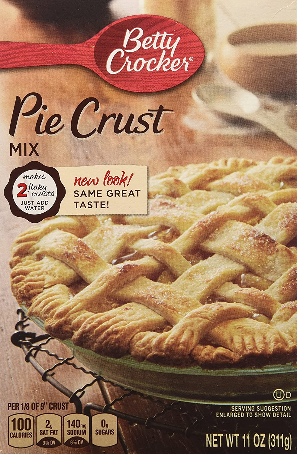 Betty Crocker Pie Crust Mix, 11 oz (3 Pack)