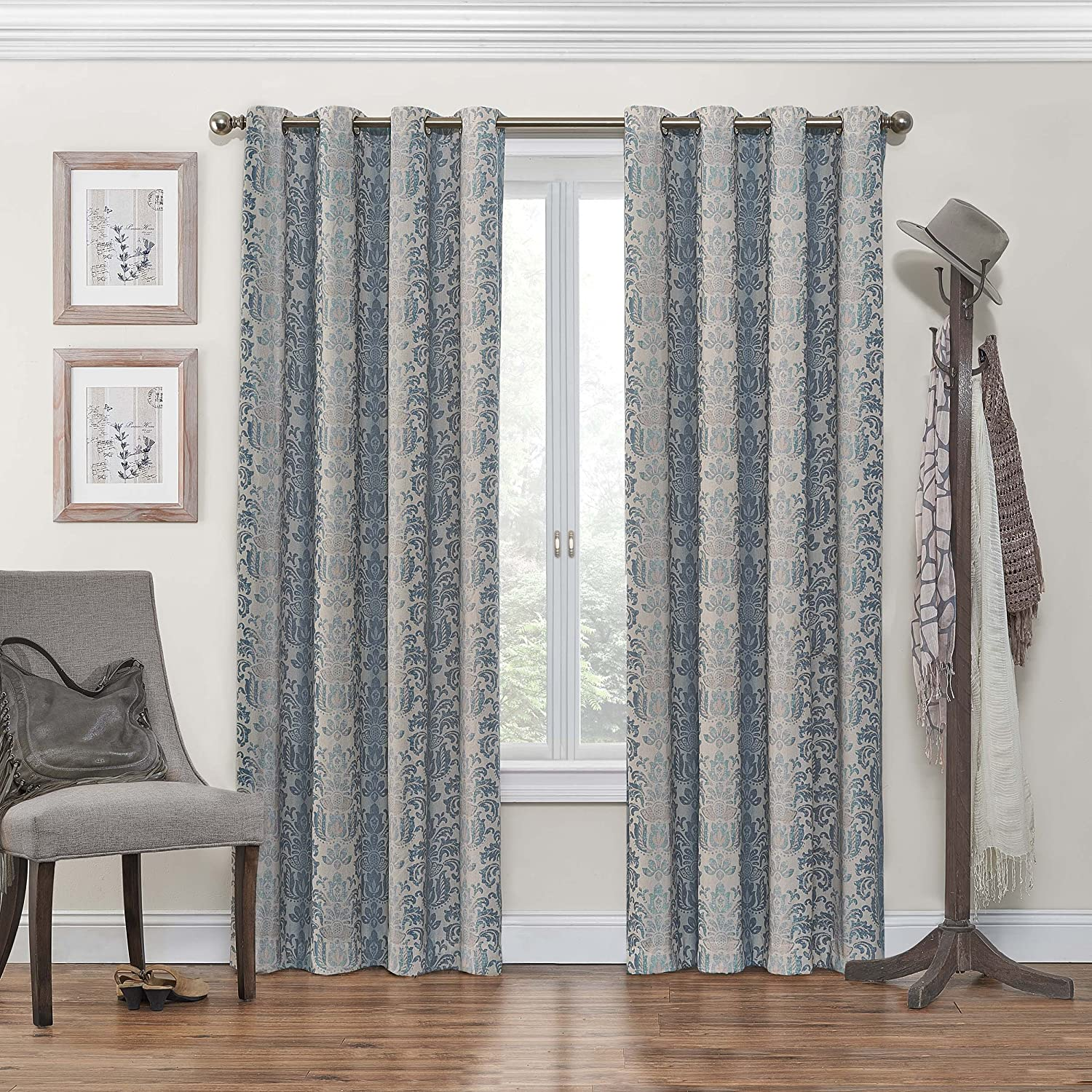 curtain curtains by dark window kitchen panel dp single blue blackout amazon eclipse inch fresno com home