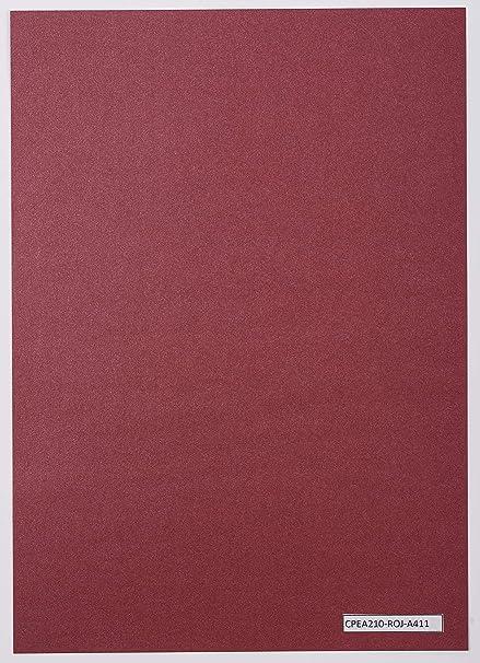 CARTULINA PERLADA (ROJA): Amazon.es: Oficina y papelería