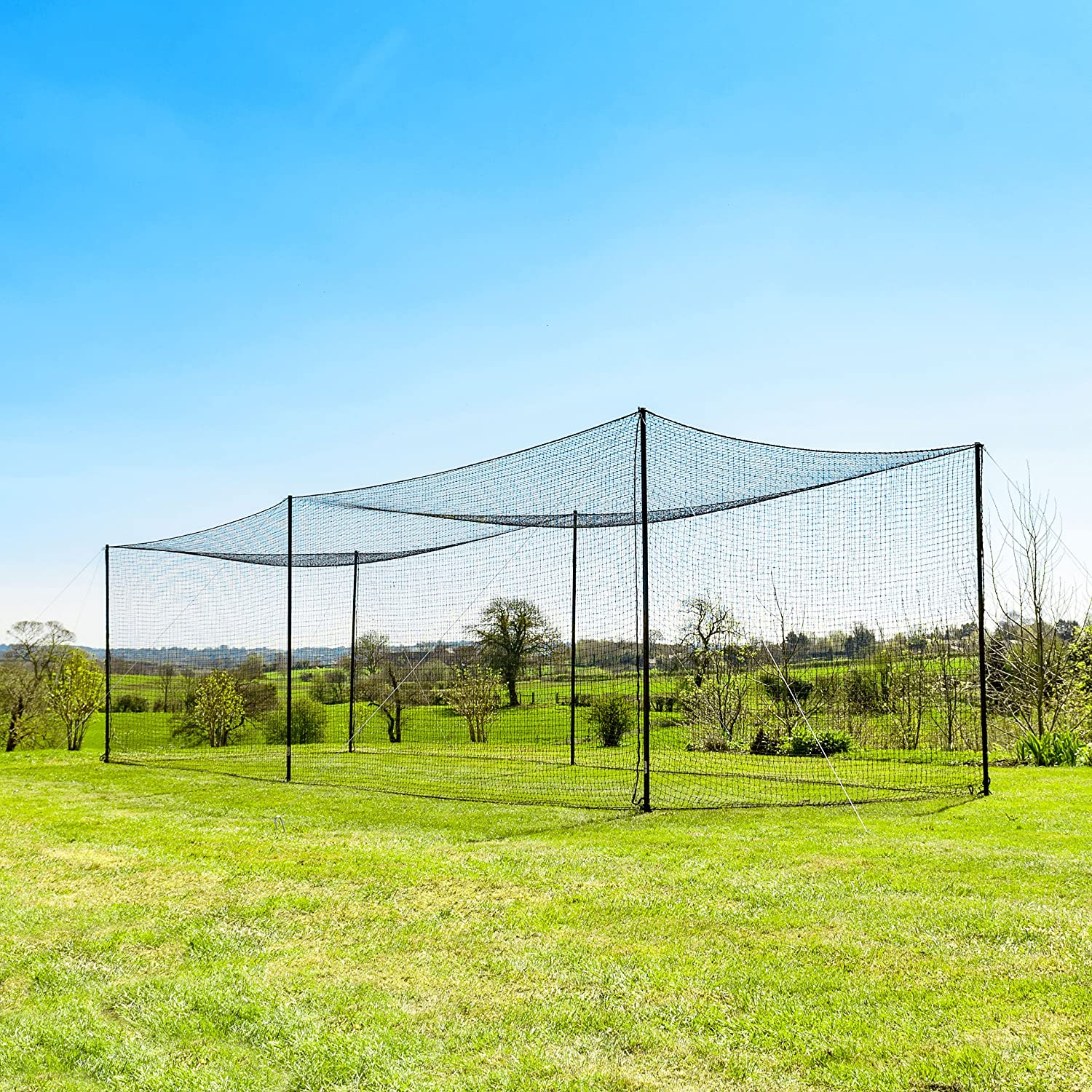 Fortress Ultimate Baseball Batting Cage [35ft] | Heavy Duty Net & Posts