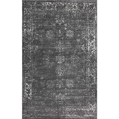 Unique Loom 3134056 Sofia Collection Traditional Vintage Beige Area Rug, 5' x 8' Rectangle, Dark Gray