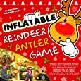 Inflatable Reindeer Hat Ring Toss Antler Game - Christmas Family Games - Christmas Party Game