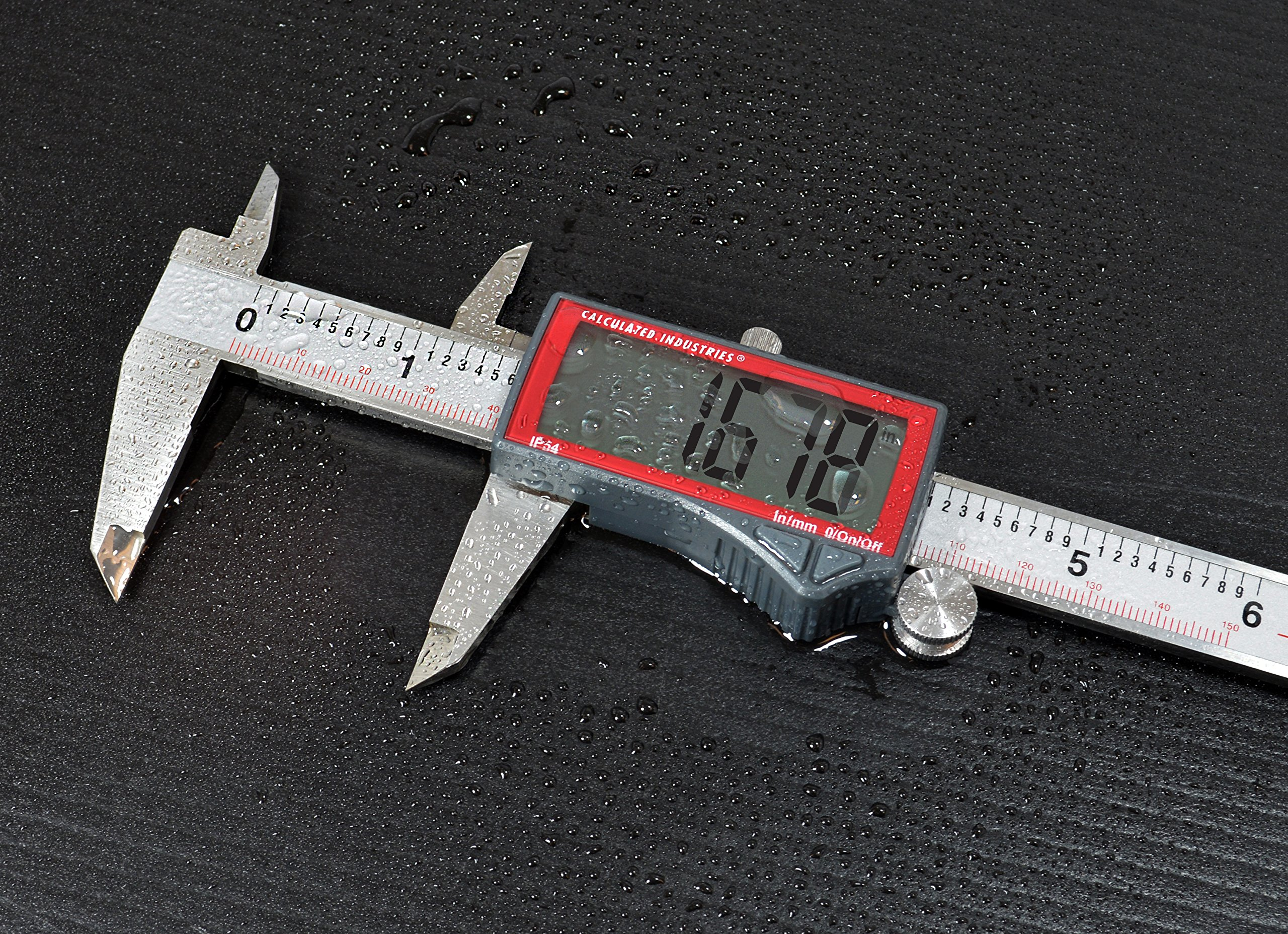 Calculated Industries 7418 AccuMASTER Electronic Digital Vernier Caliper | Metric/SAE Inch to Millimeter Conversion | Tool Measures 0-6 Inches/150mm | Stainless Steel | Largest Display Digits |IP54 by Calculated Industries (Image #4)
