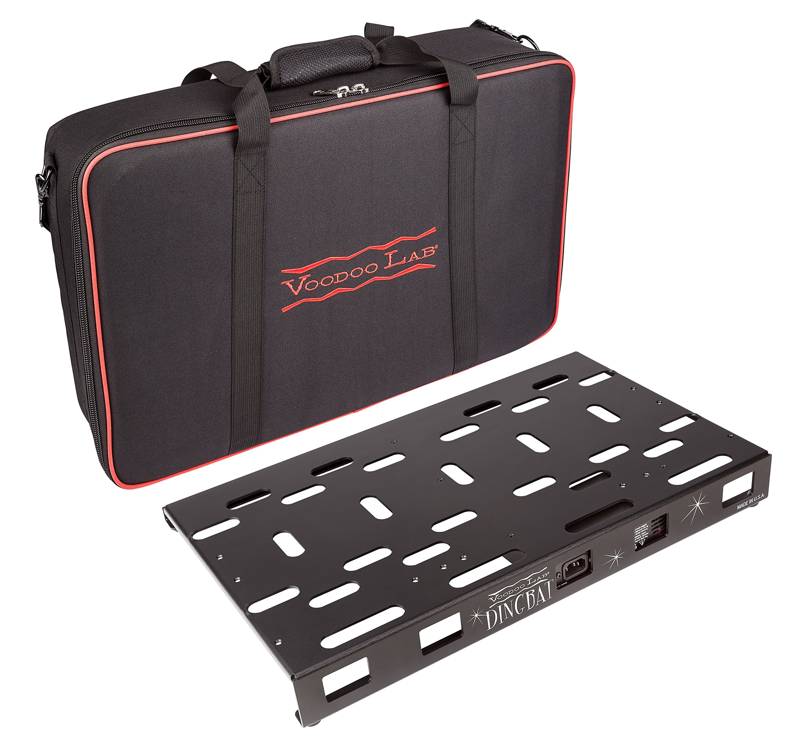 Voodoo Lab Dingbat Medium Pedalboard with Pedal Power 4x4 Power Supply & Bag