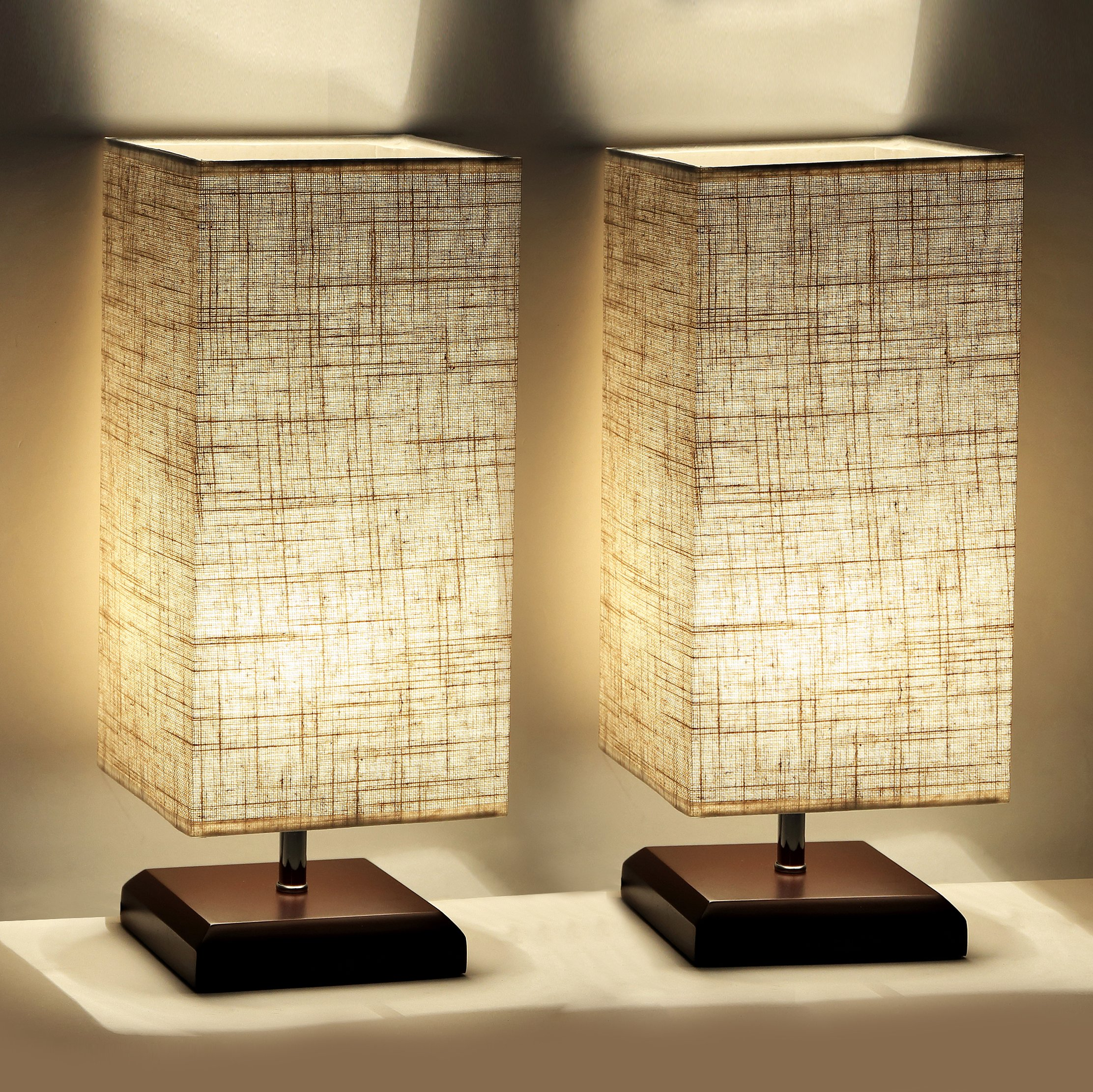 Set Of 2 Table Lamps For Bedroom Living Room Bedside