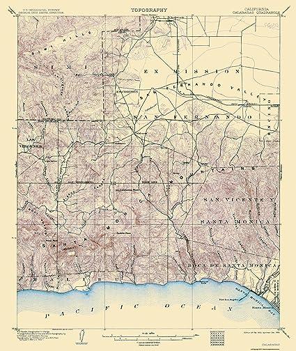 Amazon Com Topographical Map Print Calabasas California Usgs