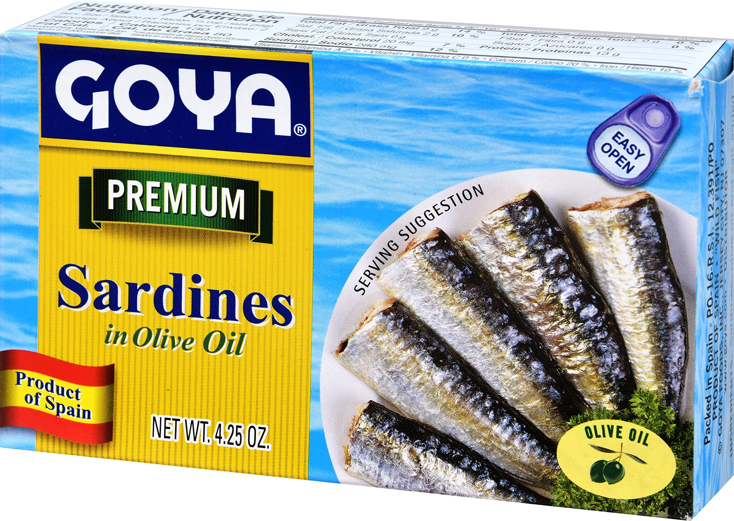 Goya Foods Sardines in Olive Oil, 4-Ounce (Pack of 25) by Goya (Image #4)