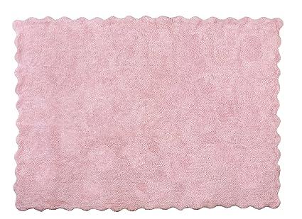 Tappeti Per Bambini Lavabili : Aratextil lisa tappeto per bambini cotone rosa cm