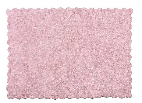 Tappeti Per Bambini Lavabili In Lavatrice : Aratextil lisa tappeto per bambini cotone rosa cm