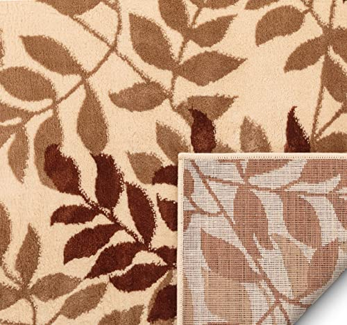 Well Woven Floral Leaves Modern Area Rug Multicolor 5×7 5 3 x 7 3