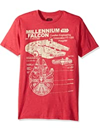 0610bf38817 Star Wars Men s Millennium Falcon Detailed Drawing T-Shirt