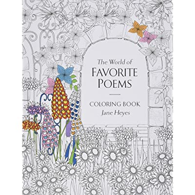 "Babalu Adult The World of Favorite Poems Coloring Book, 8"" x 11"": Toys & Games"