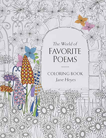 Babalu Adult The World Of Favorite Poems Coloring Book 8quot