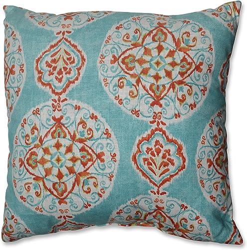 Pillow Perfect Throw Pillow, 18-Inch, Mirage Medallion