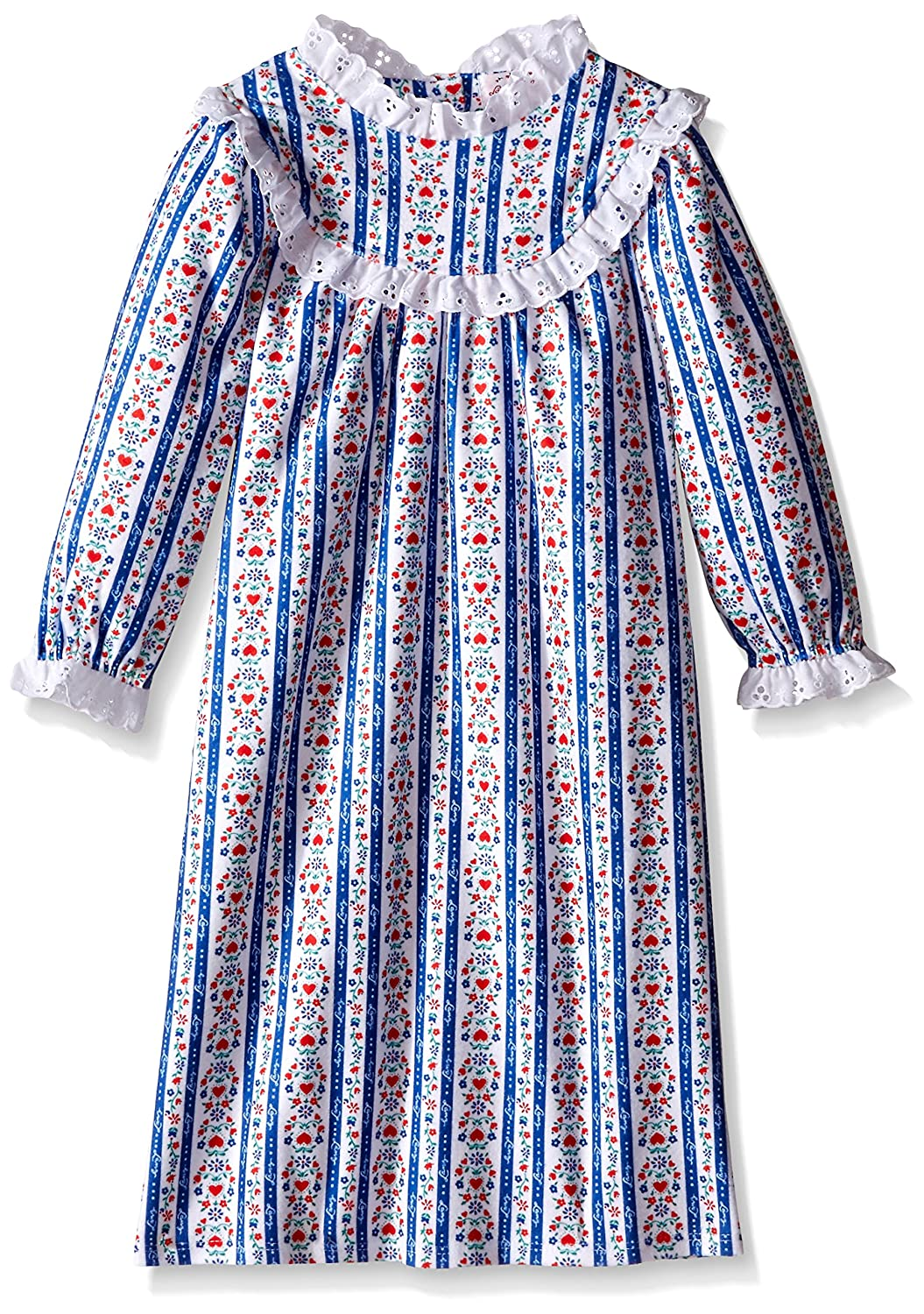 Lanz of Salzburg Light Blue Tyrolean Nighty for Toddlers and Girls