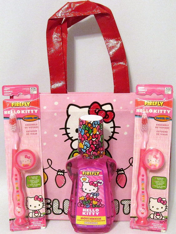 Amazon.com: Bundle – 5 Items: Hello Kitty Toothbrush Travel ...