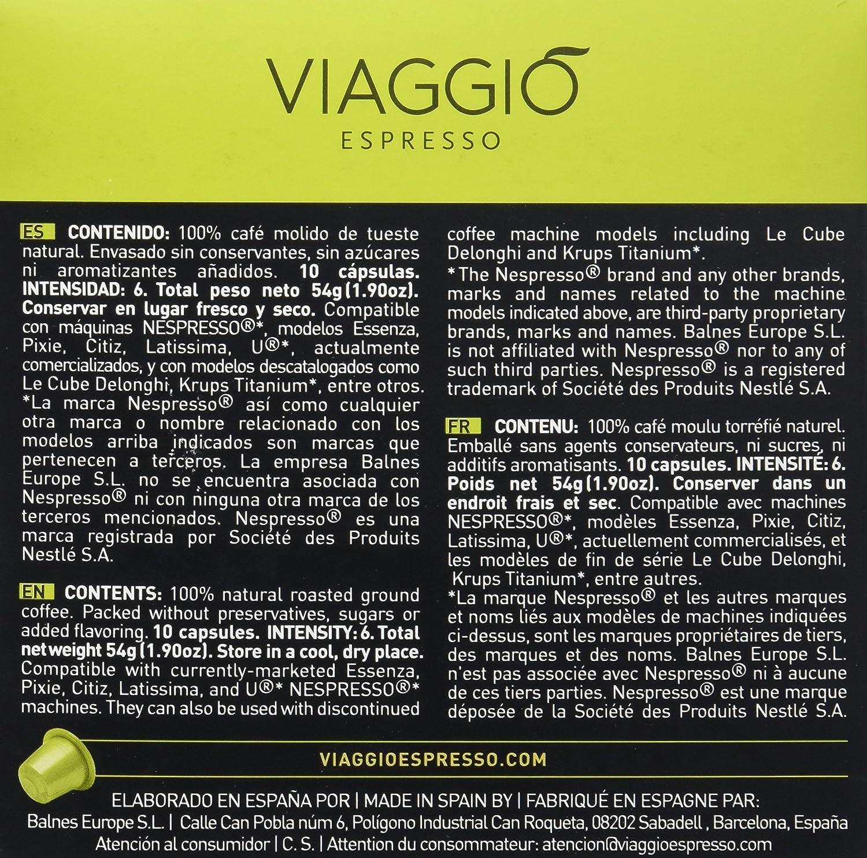 Viaggio Espresso Arabica Café - 10 cápsulas: Amazon.es: Alimentación y bebidas