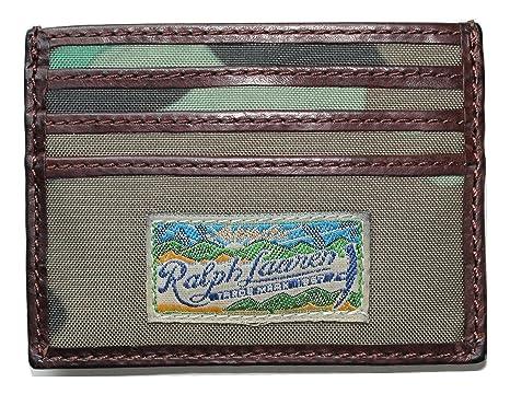 Polo Ralph Lauren Men s Leather Trim Card Case Slim Wallet at Amazon Men s  Clothing store  8c74326154d