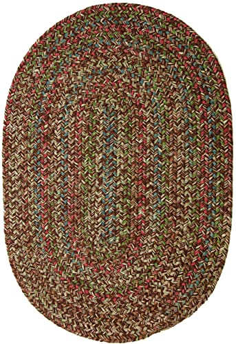 Sonya Indoor Outdoor Oval Reversible Braided Rug, 5 by 8-Feet, Brown Multicolor