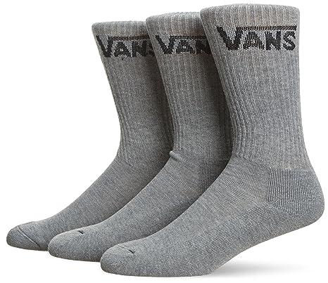 Vans Apparel Classic Crew (6.5-9, Pack de 3), Calcetines Hombre