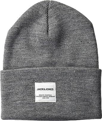 Jack & Jones JACLONG Knit Beanie Noos Gorro de Punto, Grey (Grey ...