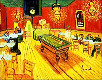 elOleo 90663 a Vincent Van Gogh – Billar Salon en Arlés 30 x 40 Pintura al óleo Sobre Lienzo Pintado: Amazon.es: Hogar