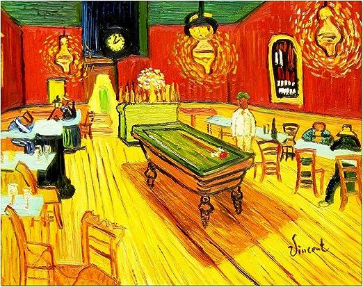 elOleo 90663 a Vincent Van Gogh – Billar Salon en Arlés 30 x 40 ...