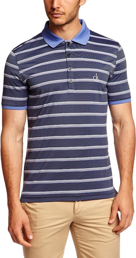 Calvin Klein Golf hombres de CK rayas rendimiento Polo camisas ...