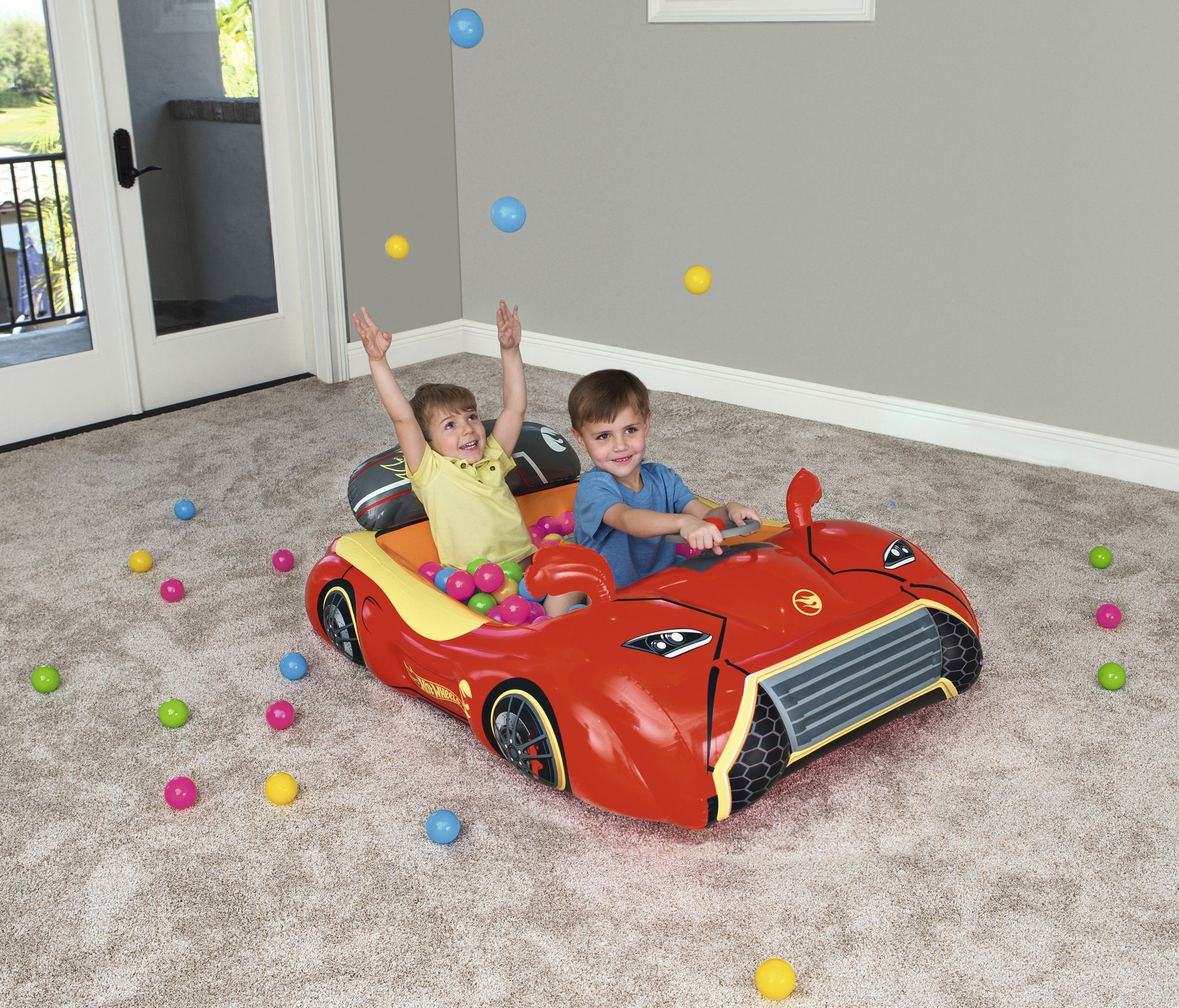 Bestway Hot Wheels Children's Inflatable Car Ball Pit, Includes 25 Balls by Bestway (Image #10)