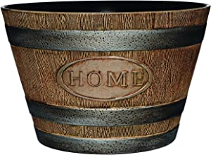 "Classic Home and Garden 70 Whiskey Barrel, 15"" -""Home, Distressed Oak"