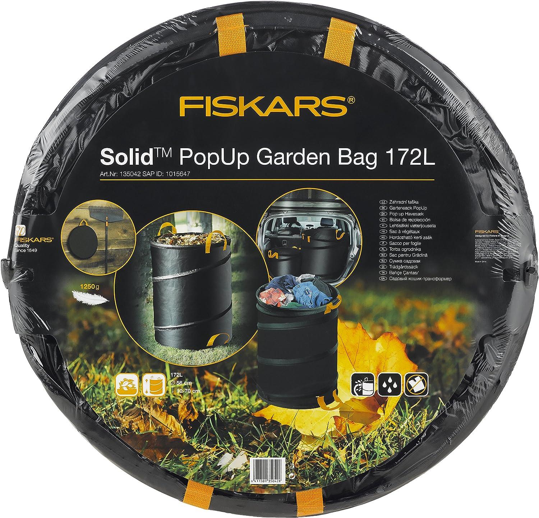 FISKARS Solid popup Sacco Da Giardino Giardino Giardino Sacco Rifiuti Nero Arancio 56 L