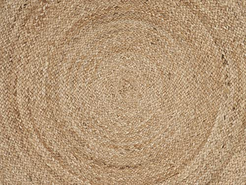 LR Resources Natural Jute Indoor Area Rug, 4 x 4 Round, –