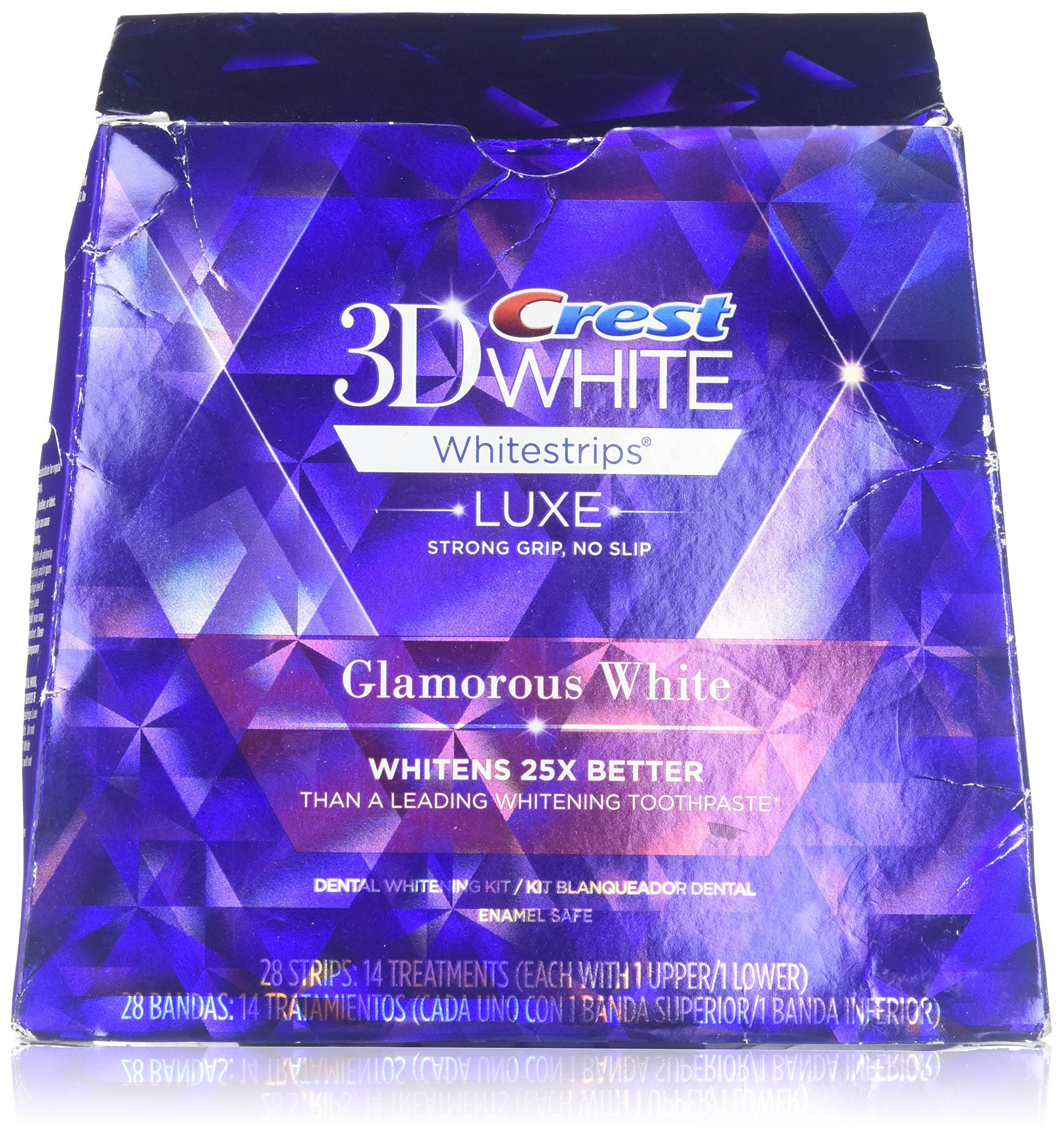 Crest 3D White Whitestrips with Advanced Seal Technology, 14 Count (Packaging May Vary) (Pack of 3 (14 treatments ea))