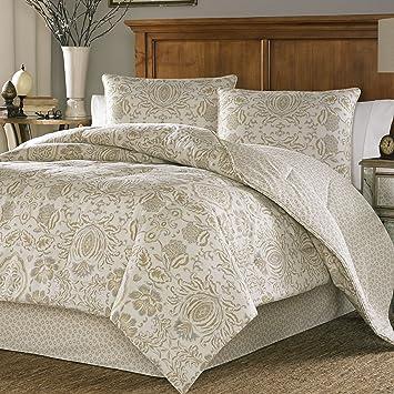 Amazon.com: Stone Cottage Belvedere Cotton Sateen Duvet Cover Set ... : beige quilt cover - Adamdwight.com
