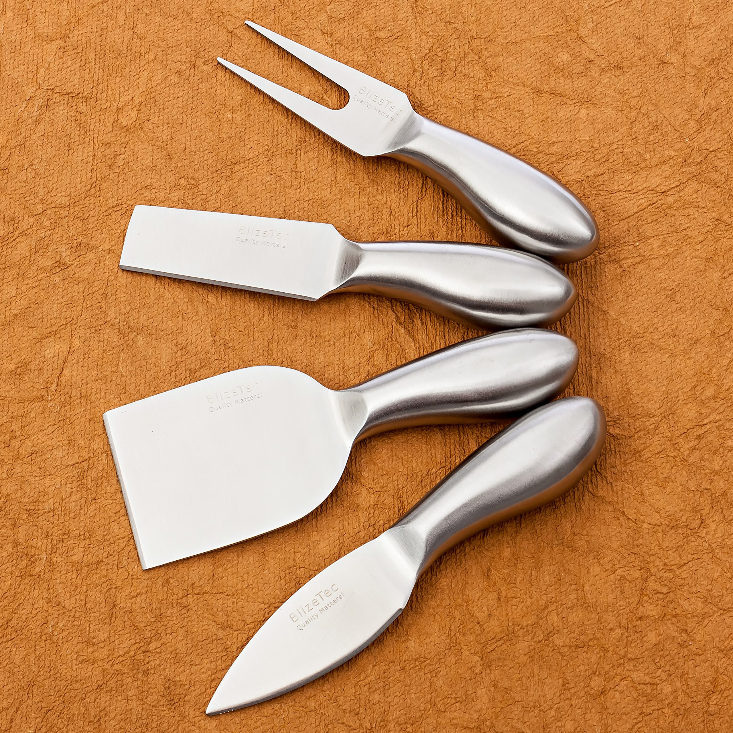 Cheese Knives: BlizeTec Cheese Slicer & Cutter Set (4 pcs) by BlizeTec (Image #6)