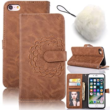 iPhone 5C Embroidery Case, Vandot Lujo 3D Patrón Diseño Flor Bordado Magnético del tirón PU Caja de Cuero de la Carpeta Cubierta Protectora ...