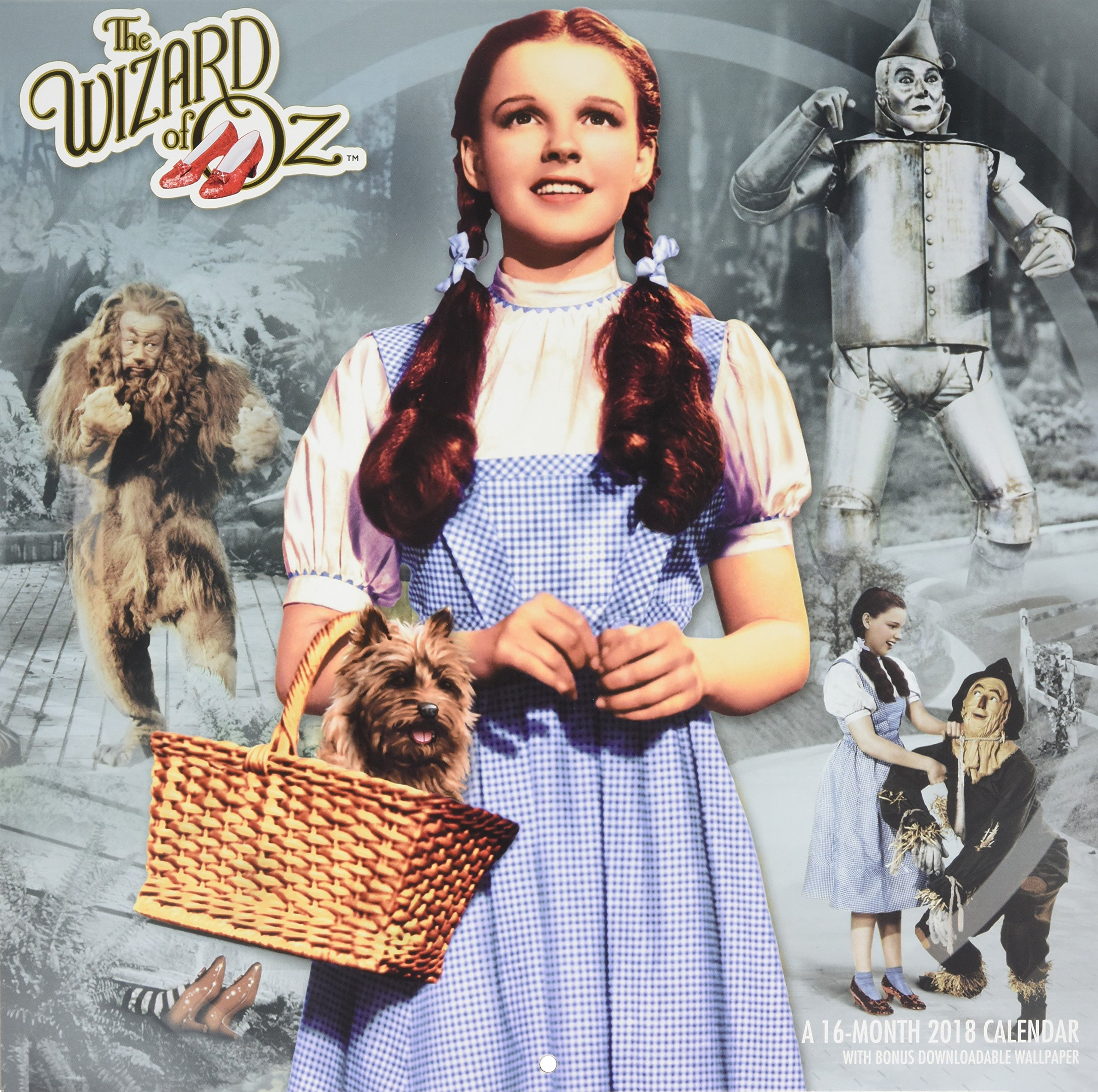 The Wizard Of Oz 2018 Calendar With Bonus Downloadable Wallpaper