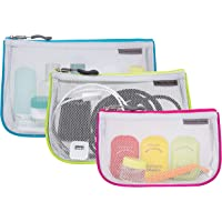 Travelon Set of 3 Assorted Piped Pouches, Gray (Gray) - 43108 510