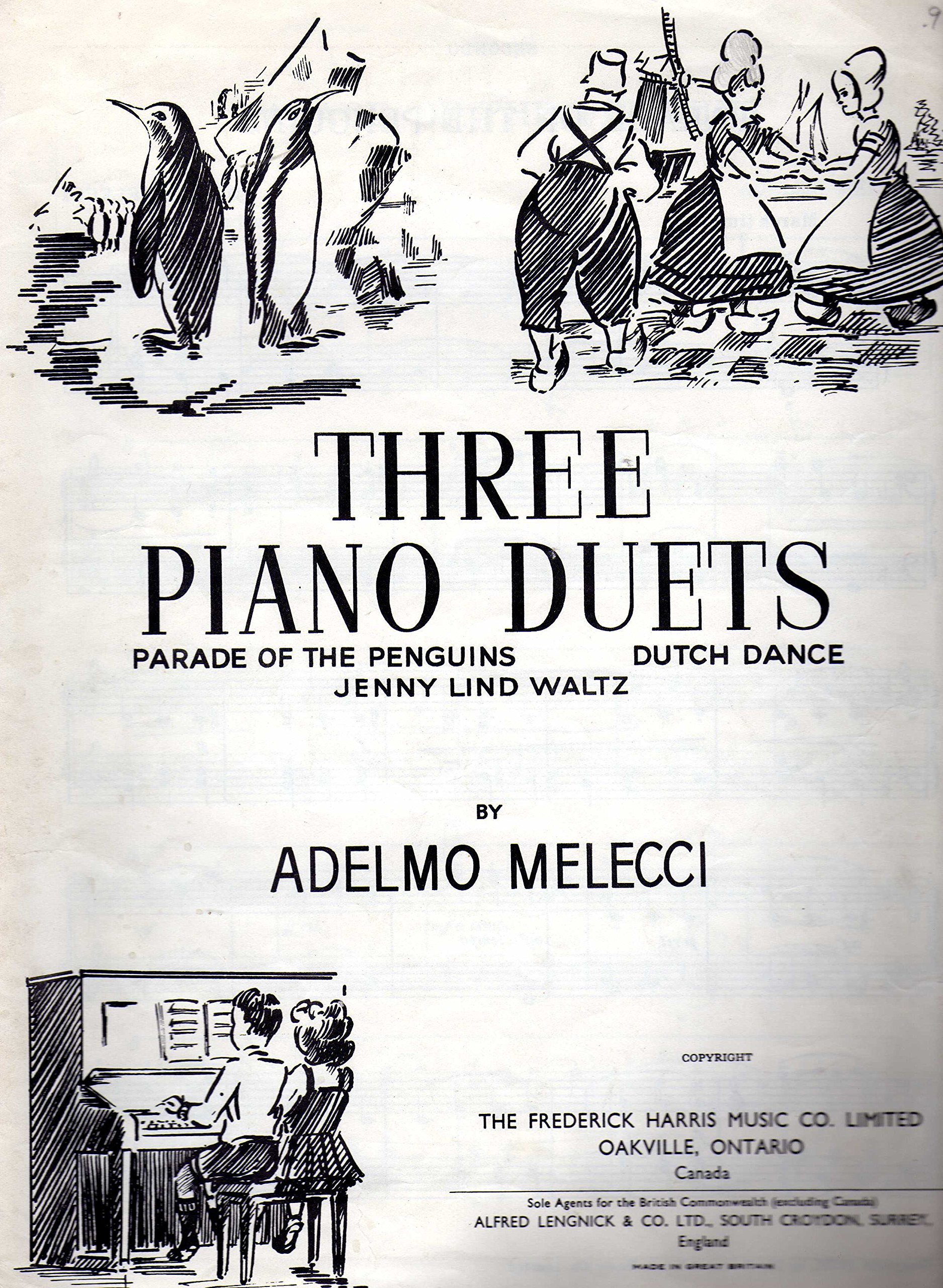 Three piano Duets : Parade of teh Penguins  Dutch Dance