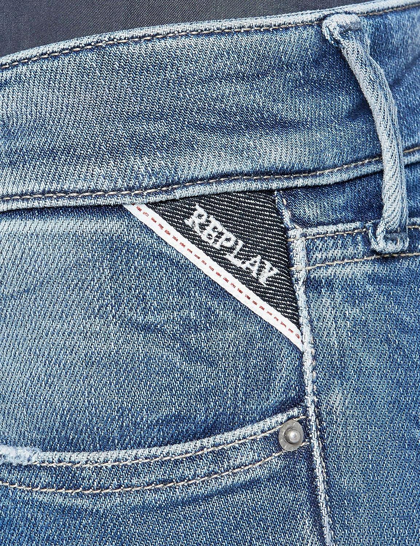 Replay Damen Luz Skinny Jeans Blau (Mid Blue 9)