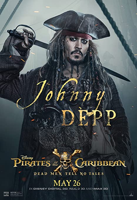 62ab1feb8dd60 Amazon.com : Pirates of the Caribbean: Dead Men Tell No Tales Movie Poster  Limited Print Photo Johnny Depp Javier Bardem Size 22x28 #1 : Everything  Else