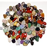 【N2 stone Natural】天然石を研磨した石 (タンブル) | (様々な種類のセット: 約500g [約10-20mm/約100-140個], 産出地: 世界各地)