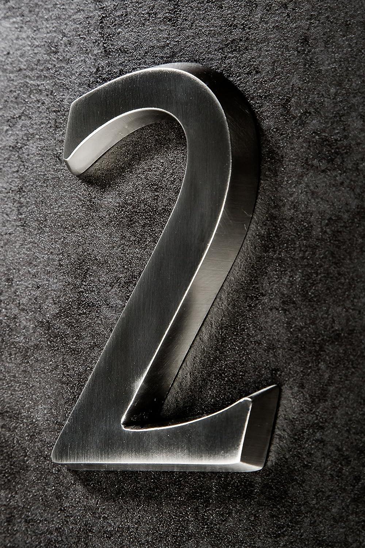 Aluminio anodizado, 10 cm N/úmero para casa HUBER dise/ño Tridimensional