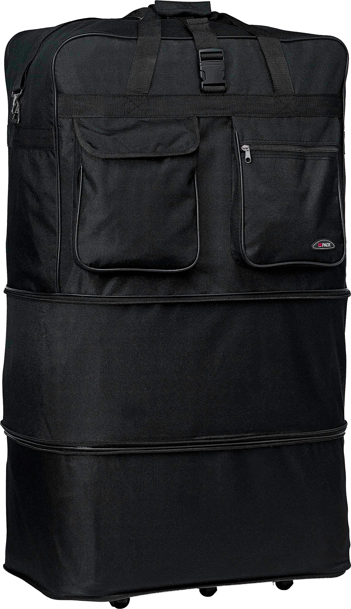 30''/36''/40''/ Rolling Wheeled SuitCase (40'', Black) by Hipack