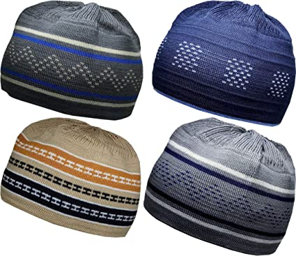 6 Colours! Premium Quality Islamic Kufi Skull Cap Prayer